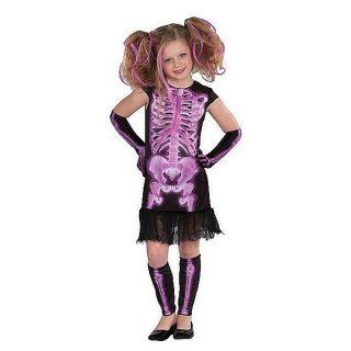 Halloween Costume Child Kids Girls Youth NWT Large Medium Skeleton X