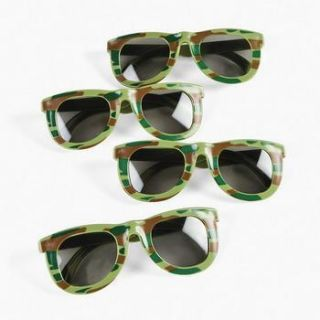 12 Camo Army Sunglasses Dozen Kids Birthday Party Favors Glasses