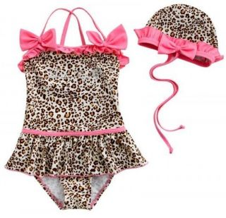 New Baby Girls Swimwear Leopard Kids Swimsuit Bikini