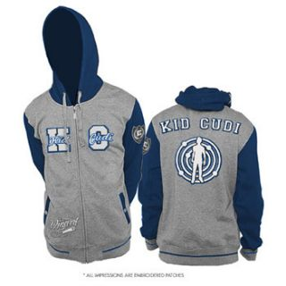 Kid Cudi Atomic Embroidered Logos Zipup Jacket Hoodie Sweatshirt New
