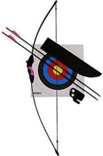 Lil Sioux Jr Recurve Archery Bow Set Kids Child w Target Arrows Pink