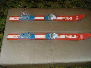 Used Elan Kids Skis Red White Blue Water Snow