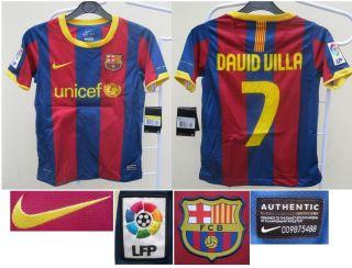 Barcelona Nike Kids David Villa 2010 11 Football Soccer Jersey Shirt