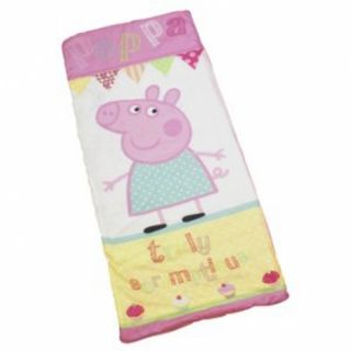 Peppa Pig Cupcake Kids Sleeping Bag Camping Travel Sleepover Sac New