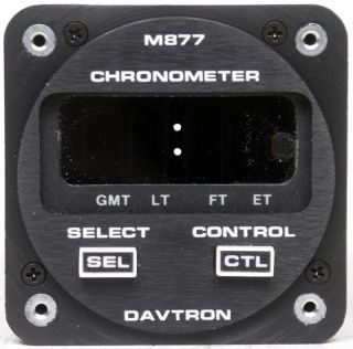 Davtron M877 Digital Aircraft Clock Chronometer Cessna Piper Beech