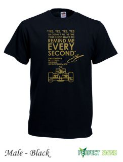 Kimi Raikkonen Leave Me Alone Yes Yes Yes F1 T Shirt s 2XL Black