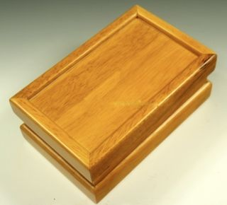 Premium Quality Oak Wood Pollen Kief Shaker Box Mirror Tray 8 x 5 x 3