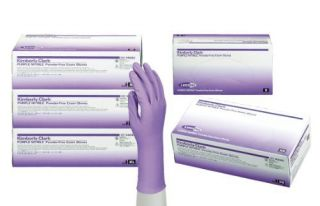 Kimberly Clark Purple Nitrile Xtra Medical Exam Gloves