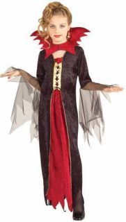 Kids Halloween Costume Vampire Princess Party Outfit
