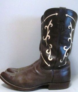 Mens Cowboy Boots Size 11 Eddie Kimmel Leather Tyler Beard Collection