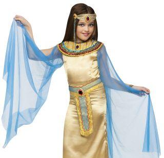 Kids Girls Cleopatra Egyptian Queen Halloween Costume Large