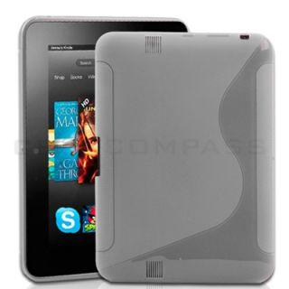Clear S Shape TPU Gel Soft Skin Case Cover For  Kindle Fire HD 7