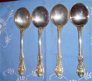 King Edward by Gorham Sterling Silver Flatware 4 Soup Spoons