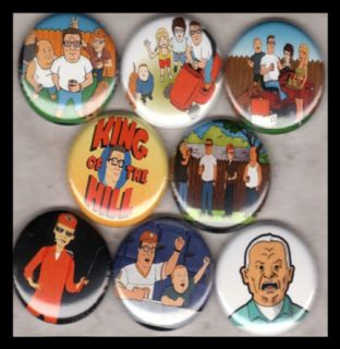 King of The Hill 1in Buttons Badges Fox Mike Judge