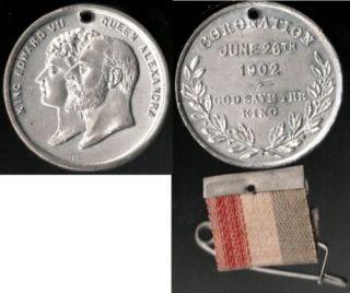 1902 King Edward VII Queen Alexandra Coronation Medal