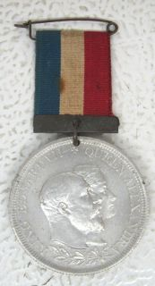 1902 King Edward VII Queen Alexandra Coronation Medal