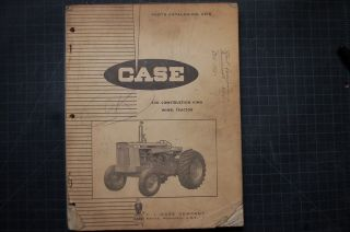 Case 530 Construction King Tractor Parts Manual Book List Catalog