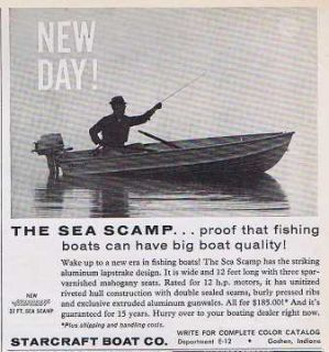 1960 STARCRAFT BOAT CO SEA CAMP FISHING BOATING ALUMINUM VINTAGE PRINT