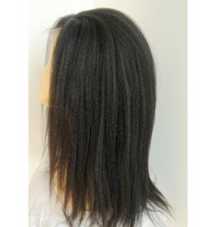 Full Lace Brazilian Virgin Kinky Straight Human Hair Wig