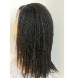 Full Lace Brazilian Virgin Kinky Straight Human Hair Wig