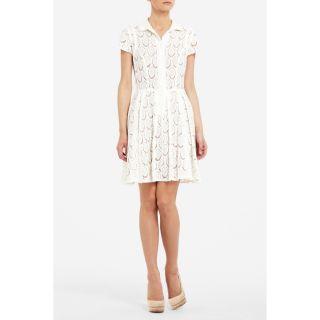 New BCBG Kiran White Lace Shirt Dress 8 $268 FNG6O397