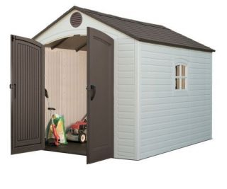 Lifetime 8x10 Plastic Backyard Storage Shed Kit 60018