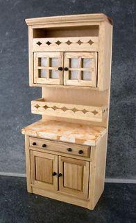 Dolls House Miniature Kitchen Furniture Light Oak Cabinet Unit with