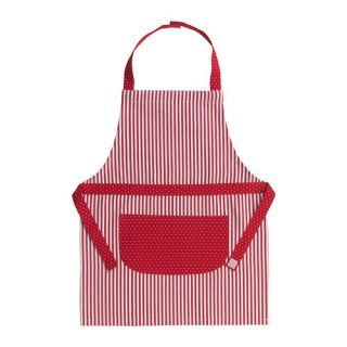 Apron Red Stripe Polka Dot Play Art Smock Cook Kitchen Gift