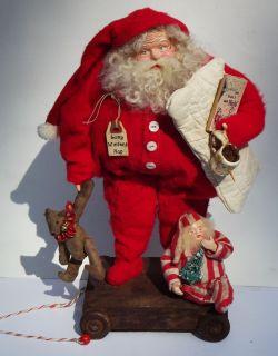 Kims Klaus OOAK Handmade Santa Claus Elf Teddy Vintage Tree Antique