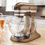 KitchenAid Antique Copper Tilt Artisan Stand Mixer 5 Qt Glass Bowl