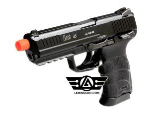 KWA H K HK45 NS2 Blowback Gas Pistol GBB Airsoft Gun with 45 days KWA