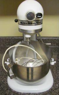 Kitchenaid Model K5 A Hobart White 4 1 Qt Stand Mixer Kitchen Aid 300