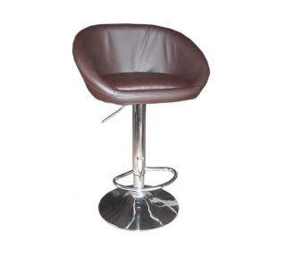 2pcs Restaurant Kitchen Counter Pub Salon Swivel Bar Stool Chair Brown