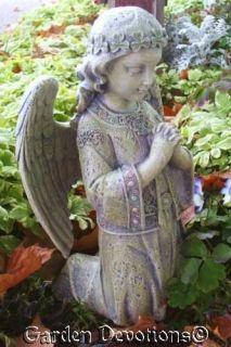 Celtic Kneeling Angel Garden Statue Memorial Shamrocks