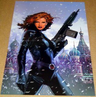 Black Widow 1 Poster Marvel Knights Greg Land Avengers