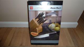 Wusthof Grand Prix II 12 PC Knife Block Set Brand New in Box