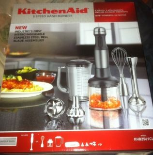 KitchenAid KHB2561CU 5 Speed Hand / Immersion Blender with Attachments