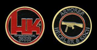 Challenge Coin HK Heckler Koch Armorer