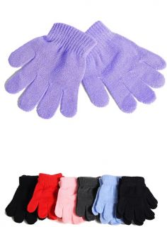 Childrens Acrylic Sweater Knit Gloves Hand Warmers 7 Colors OS