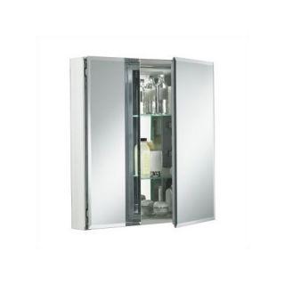 Kohler Double Door Cabinet Square Mirrored Chest Medicine Wall Mount