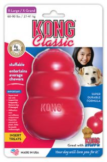 Classic Red Kong Dog Toy Choose Size Supports Rescue