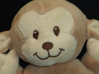 KOALA BABY BOY BROWN TAN PLUSH STUFFED ANIMAL RATTLE SOFT MONKEY TOY