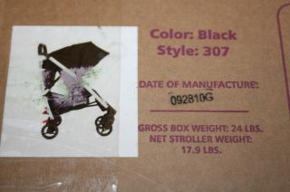 Joovy Kooper Family Gear Lightweight Umbrella Baby Stroller Black 307