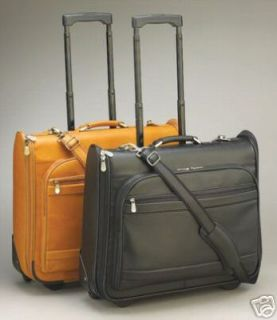 Kluge Leather Rolling Garment Luggage Suitcase Computer