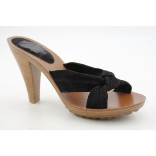 KORS Michael Kors Dash Womens Size 7 Black Open Toe Regular Suede