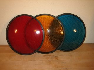 Kopp Glass 12 Traffic Light Lens Red Yellow Green