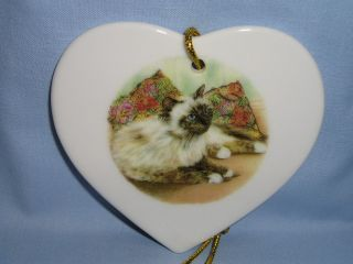 Ragdoll Himalayan Cat Heart Christmas Tree Ornament