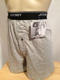 Jockey Elance Knit Boxer Large 36 38 Light Gray