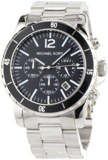 Michael Kors Watches Michael Kors Mens Silver Black Madison MK8140
