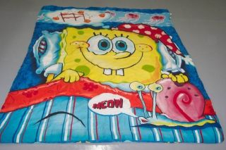 SPONGEBOB SQUAREPANTS KRABBY PATTY NICKELODEON TWIN COMFORTER BLANKET